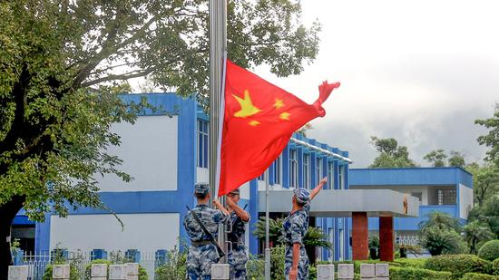PLA garrison in Hong Kong holds national flag-raising ceremonies