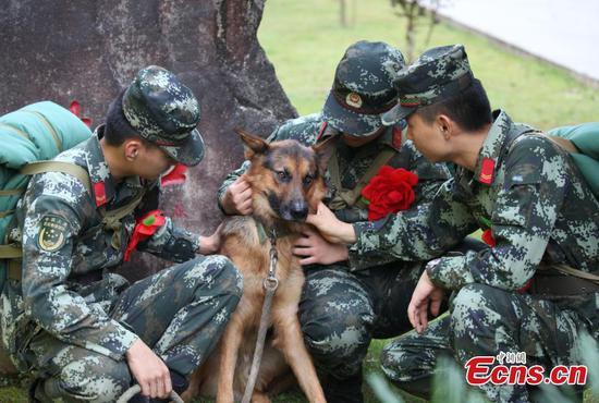 Armed police retire in eastern city