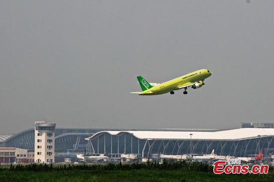 Fourth C919 jet departs from Shanghai to eastern airport