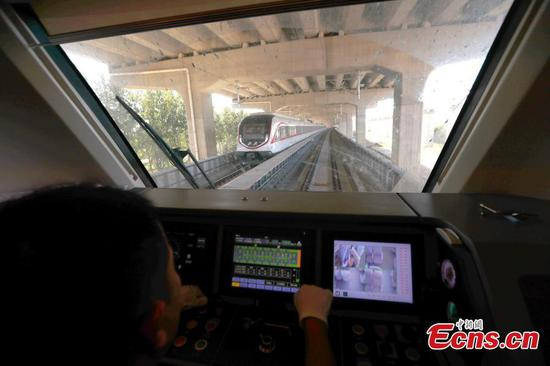 Testing underway on Beijing's new airport subway line