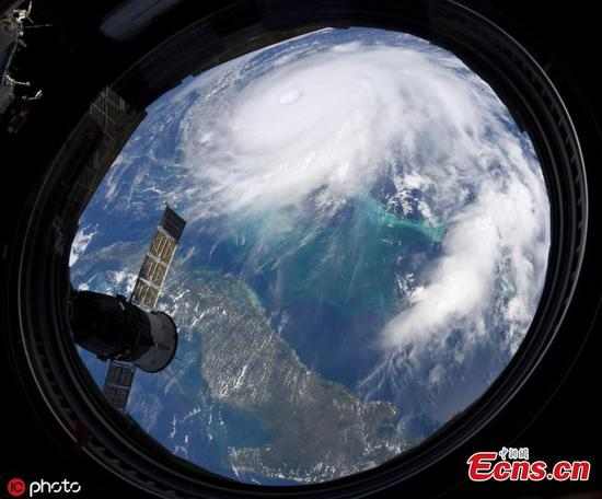 Astronauts in space 'feel the power' of hurricane Dorian