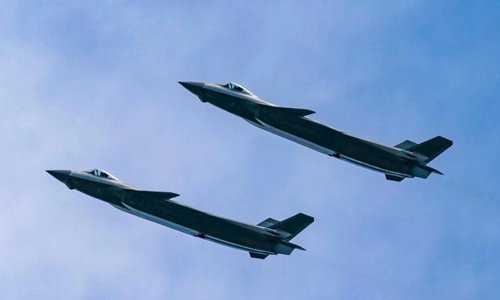 Airforce video shows largest J-20 formation