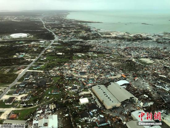 Scenes after Bahamas pulverised by Hurricane Dorian
