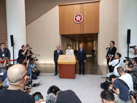 Carrie Lam speaks during a press conference in China's Hong Kong Special Administrative Region, September 5, 2019. /CGTN Photo