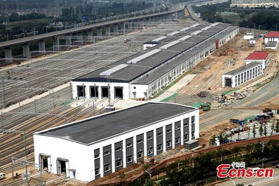 Train service center soon ready for Beijing-Zhangjiakou railway