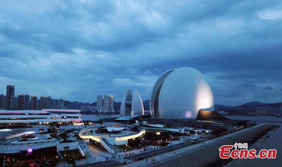 Shell-shaped Zhuhai Opera House