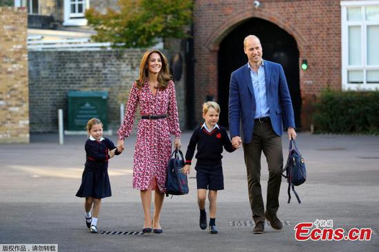 Britain's Princess Charlotte starts school