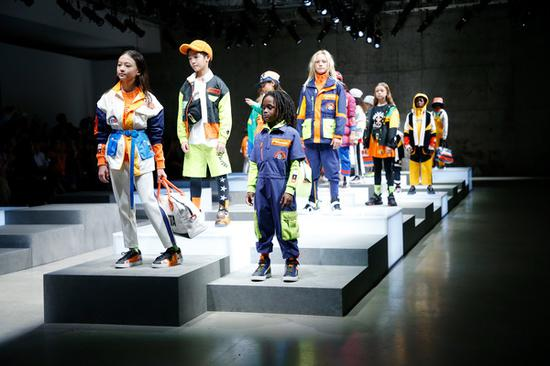 New collections of Chinese children sportswear brand debut in New York