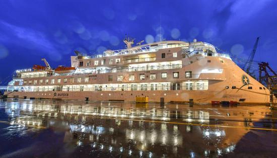 China-made cruiser sets sail for polar tour
