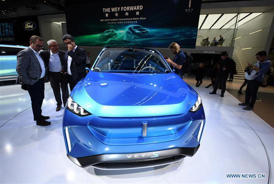 First press day of Germany's International Motor Show (IAA) 2019 in Frankfurt
