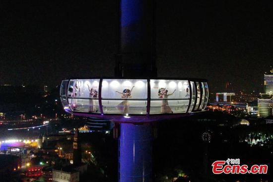 120m-tall transparent sightseeing tower opens in Changsha