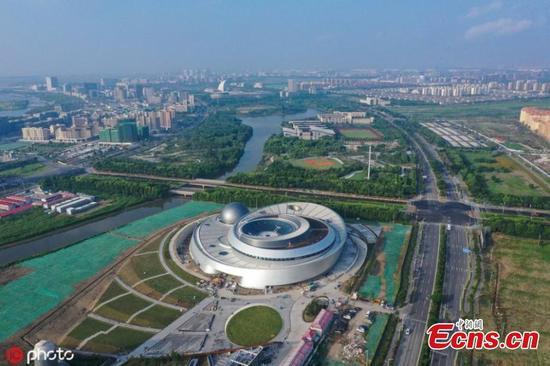 World's largest planetarium takes shape in Shanghai