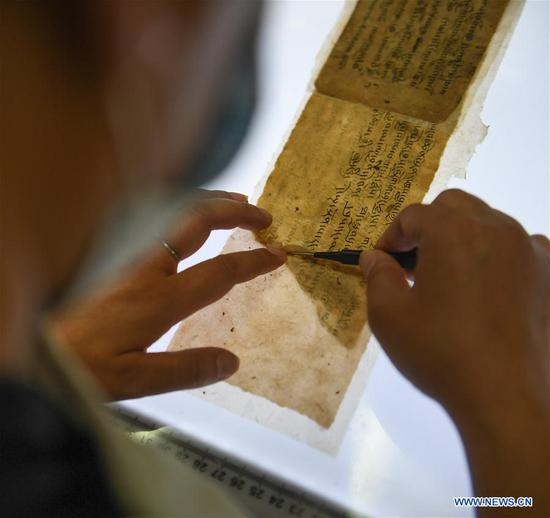 Ancient documents from Paingar, Mangra monasteries in Tibet restored