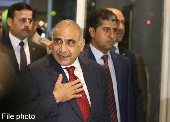 Adel Abdul Mahdi arrives at the parliament in Baghdad, Iraq, on Oct. 24, 2018. (Xinhua)