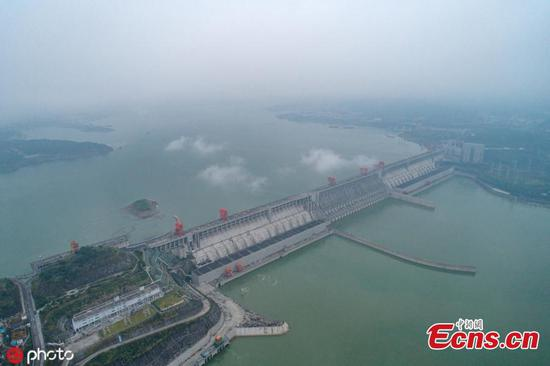 Water rises in Three Gorges Dam as test underway