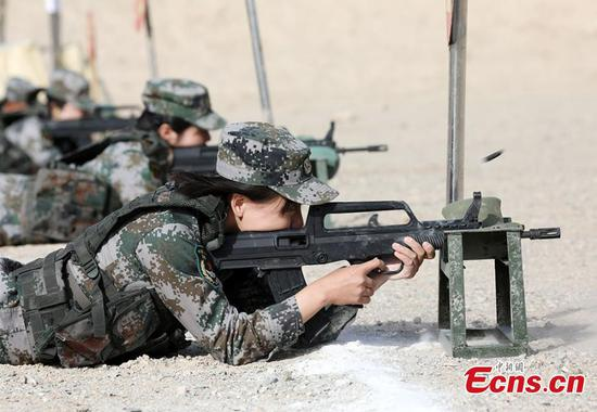Marksmanship test held in Xinjiang military base