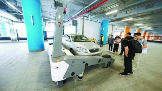 Automatic system to make car parking easier at Beijing's new airport