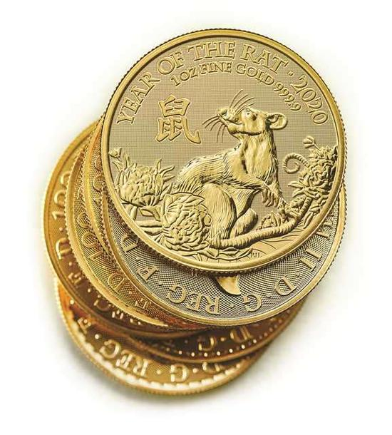 Coins launched by Royal Mint to celebrate Chinese New Year of the Rat 2020. (Photo/China Daily)