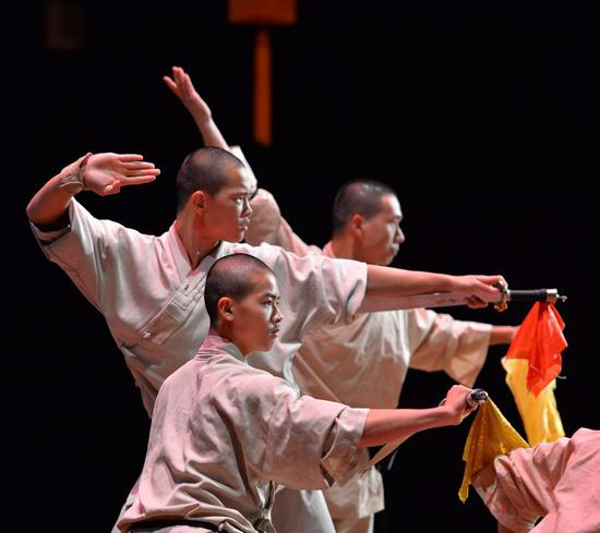 Kungfu masters perform martial arts in Bandar Seri Begawan, Brunei