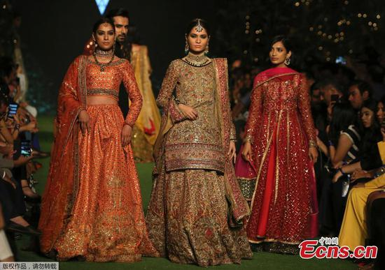 In pics: Creations at Bridal Fashion Week in Pakistan