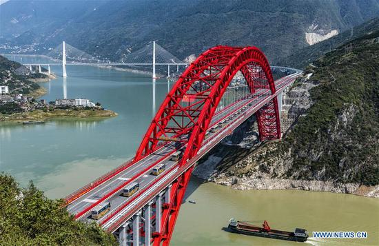Zigui Yangtze River Bridge opens to traffic in Hubei