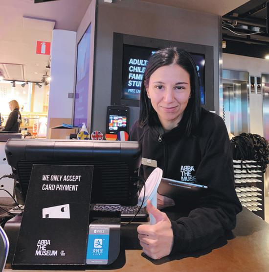 AliPay can now be used at a museum in Stockholm, capital of Sweden. (PHOTO / XINHUA)