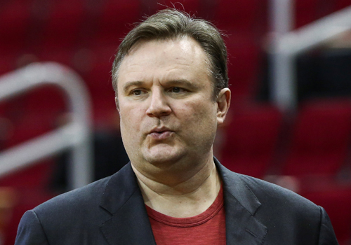 Houston Rockets general manager Daryl Morey looks on before a game between the Rockets and the San Antonio Spurs at Toyota Center. (File photo/Agencies)