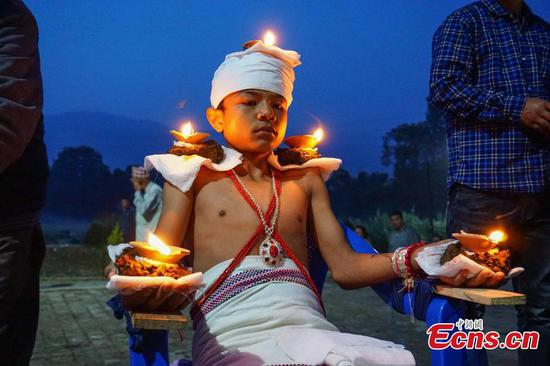 Dashain Festival celebrated in Bhaktapur, Nepal
