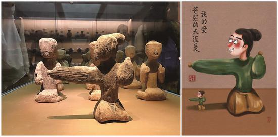Wang used the illustrations to reflect her emotions. (Photo/Women of China)