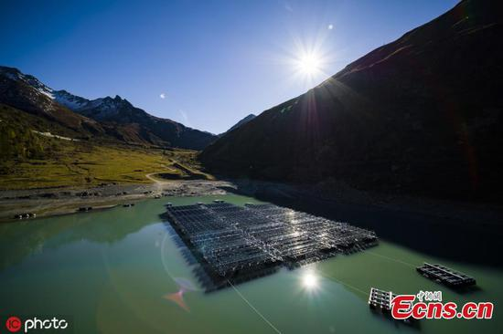 Floating solar panels unveiled in Swiss Alps