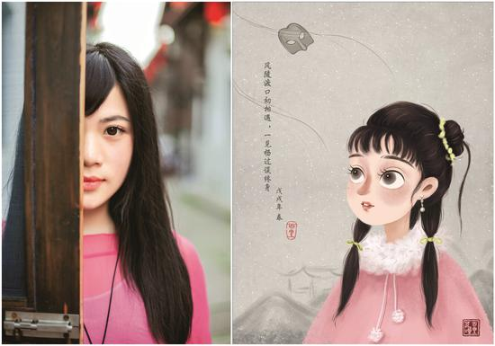 Wang Congying drew nine illustrations to depict the images of the pottery figurines (Photo/Women of China)