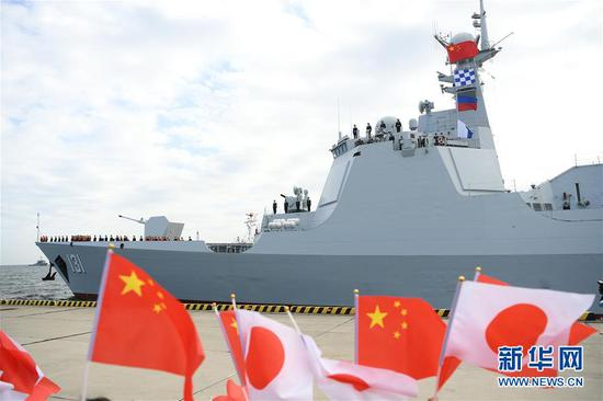 PLA Navy destroyer arrives in Japan for int'l fleet review