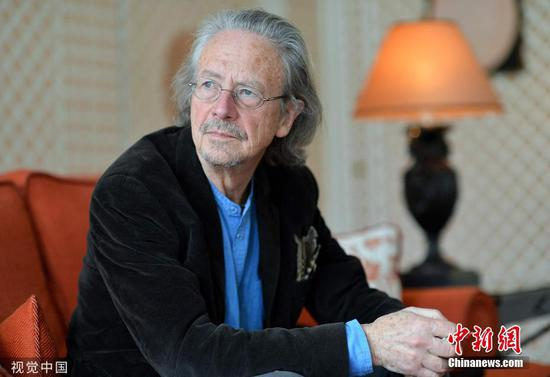 File photo of Austrian writer Peter Handke. (Photo/VCG)