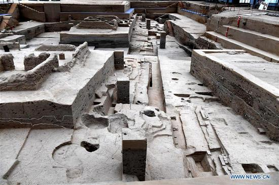 Archaeological site in Kaifeng City, C China's Henan