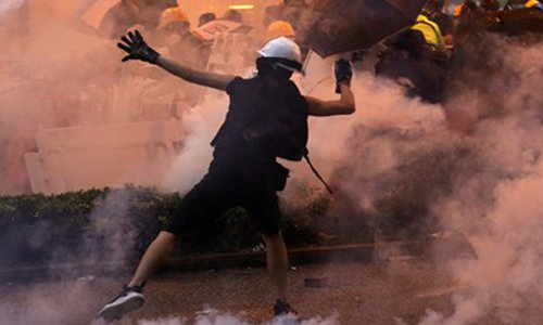 Rioters use terror-like device