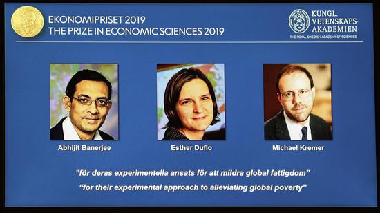 Three economists share Nobel Economics Prize for work on poverty