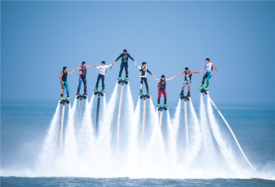 Aquabike Grand Prix held in Qingdao