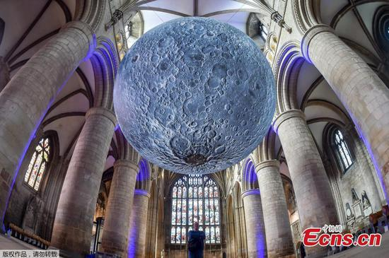 Stunning 'Museum of the Moon' comes to Gloucester Cathedral
