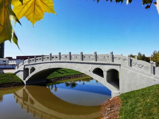 3D-printed concrete bridge unveiled in north China