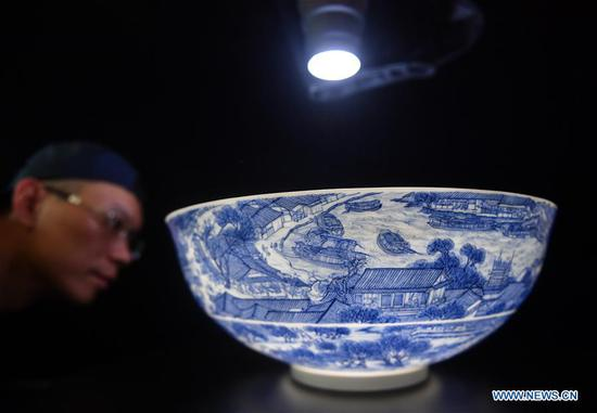 Egg shell porcelain making in China's Jingdezhen