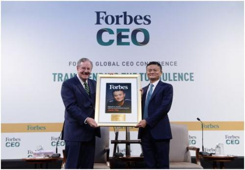 Jack Ma honored with Forbes Lifetime Achievement award