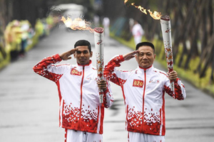 Military World Games torch comes to Wuhan