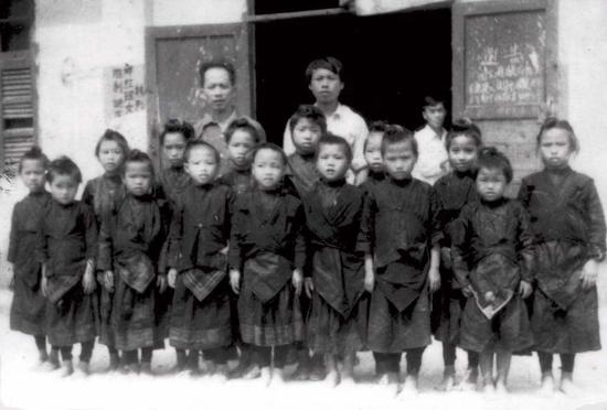 File photo of the first class for the Red Yao ethnic girls (Photo provided to Xinhua)
