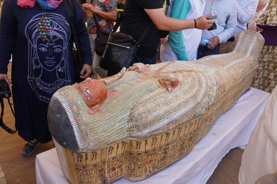 Egypt unveils 30 newly-discovered 3,000-year-old coffins in Luxor