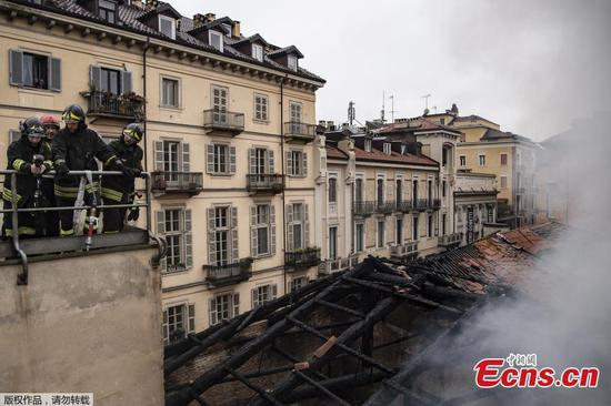 Roof collapses in fire at UNESCO site Cavallerizza Reale