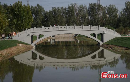 3D-printed 'ancient bridge' put to use in Tianjin