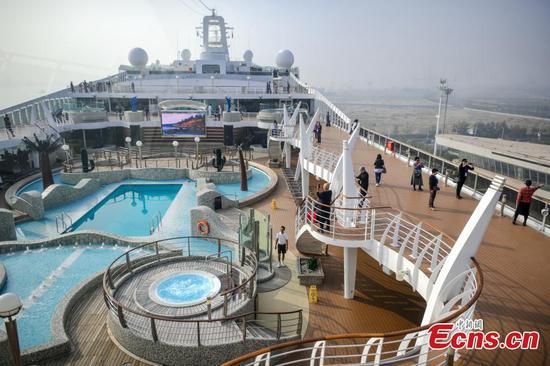 Cruise ship MSC Splendida starts service in homeport in Tianjin