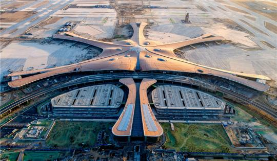 An aerial view of Beijing Daxing International Airport. (Photo/China Daily)
