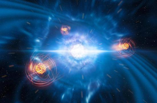 Collisions of neutron stars create element that makes fireworks sparkle