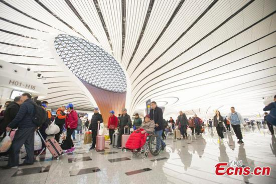 International flights begin at Beijing's new mega-airport